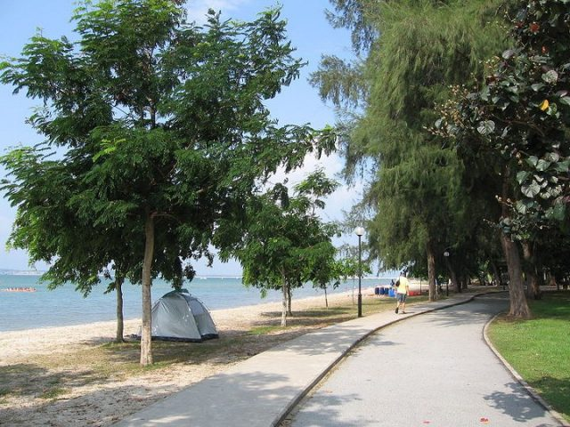 Changi Beach Park in Singapore