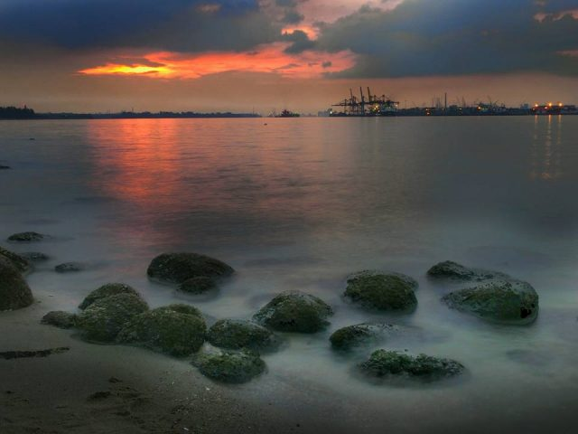 Punggol Beach in Singapore