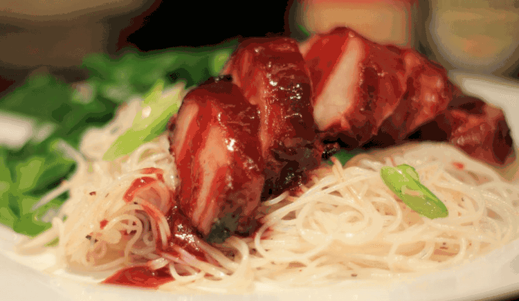 Char Siew Rice Noodles