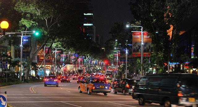 Orchard Road in December