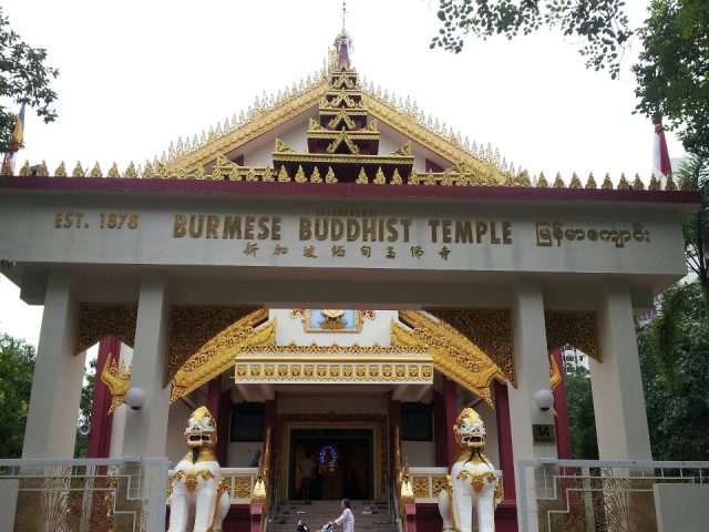 Burmese Buddhist Temple in Singapore