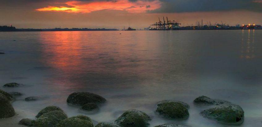Punggol Beach in Singapore